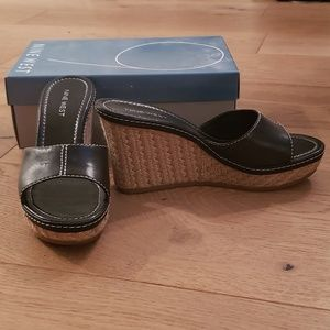 Nine West Shoes - Nine West Black Wedges - size 8